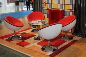 BNV Kiállítás, 2012 - Impala Bútorkereskedő Kft. piros-fehér koktélfotelei