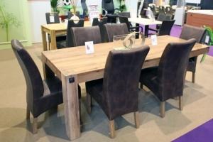 Construma 2014 - Impala Bútorkereskedő Kft. tömör tölgyfa asztala székekkel
