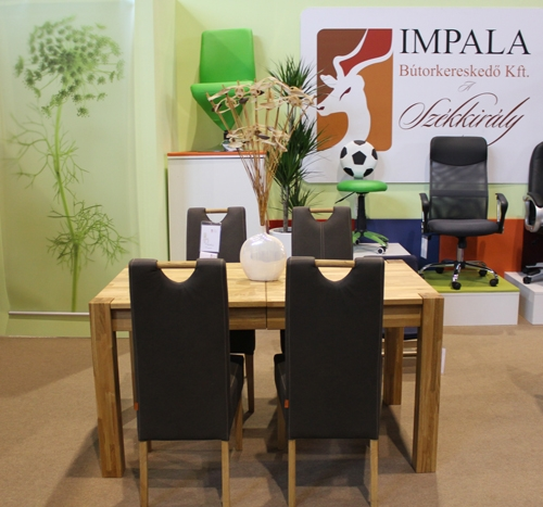 Construma 2014 - Impala Bútorkereskedő Kft. étkezőgarnitúrája és székei