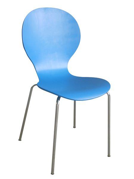 Shell (MF-4257) rakásolható lemezelt szék világos kék