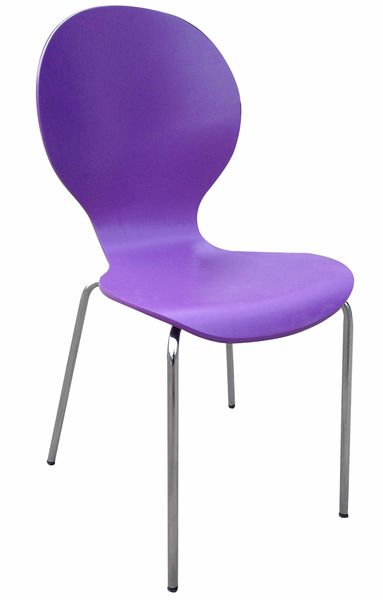 Shell (MF-3844)  rakásolható lemezelt szék lila