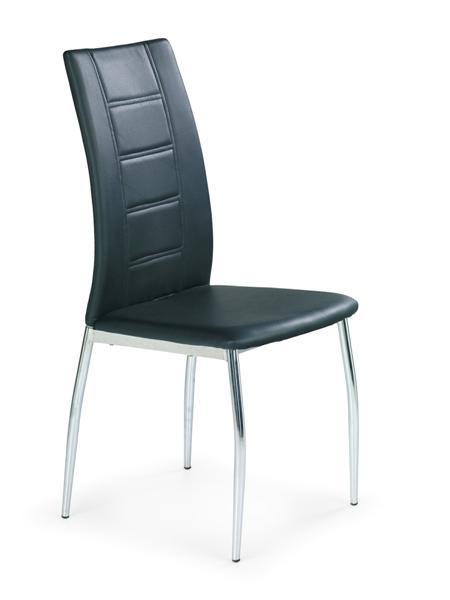 K-134 fémvázas szék, króm, textilbőr