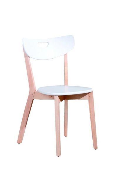 Peppi favázas szék, lemezelt, bükk/fehér MDF