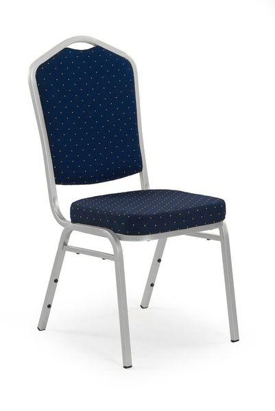 K-66S rakásolható fémvázas konferencia szék ezüst, kék