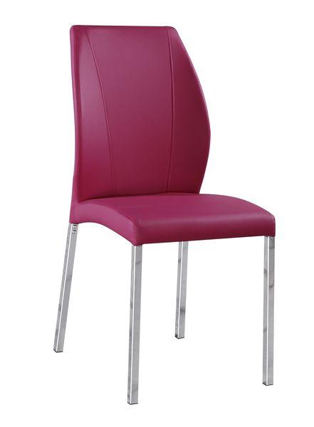 MF-7332 fémvázas kárpitozott szék króm pink textilbőr