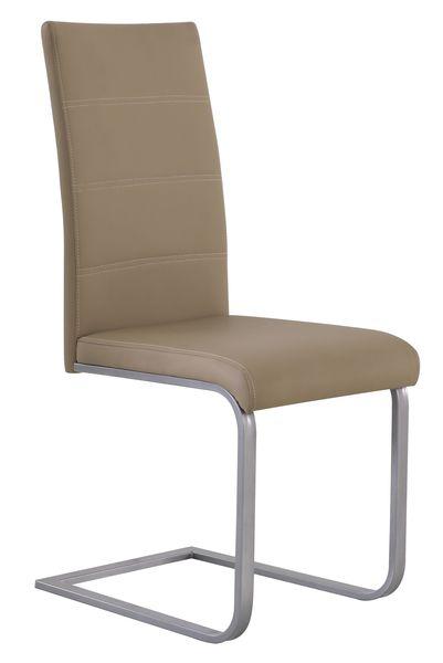 MF-6927 fémvázas szék, alu, mud (barna) textilbőr