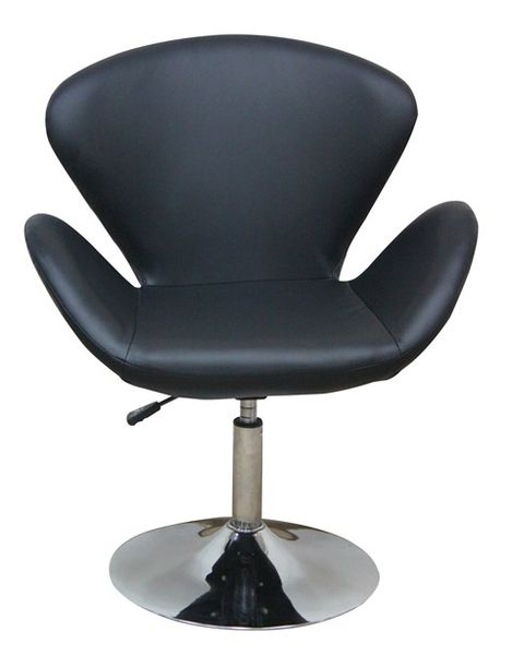 MF-6868 coctail fotel króm, fekete textilbőr, gázliftes