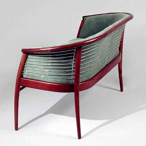 Szmoky-Lux fémkosaras kanapé