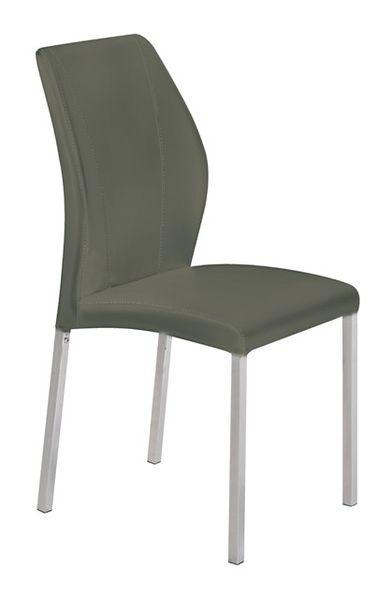 MF-7353 fémvázas kárpitozott szék króm, szürke textilbőr