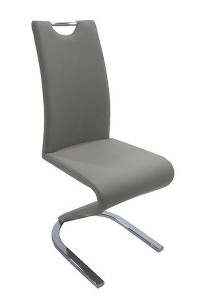 MF-5245 fémvázas szék, króm, mud (barna) textilbőr
