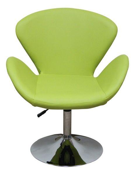 MF-6867 coctail fotel króm, kiwi textilbőr, gázliftes