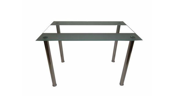 Wendy üveglapos asztal króm láb, 110x70x75