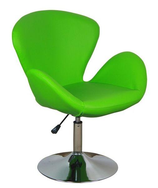 MF-8106 design coctail fotel króm,  zöld gázliftes