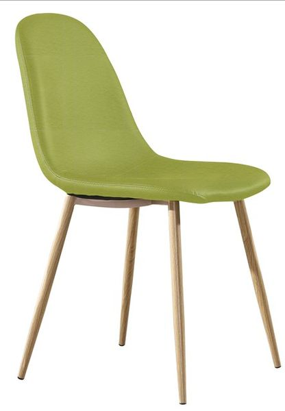 MF-8351 kárpitozott szék metál, kiwi zöld textilbőr