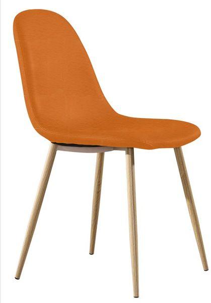 MF-8352 kárpitozott szék metál, orange textilbőr