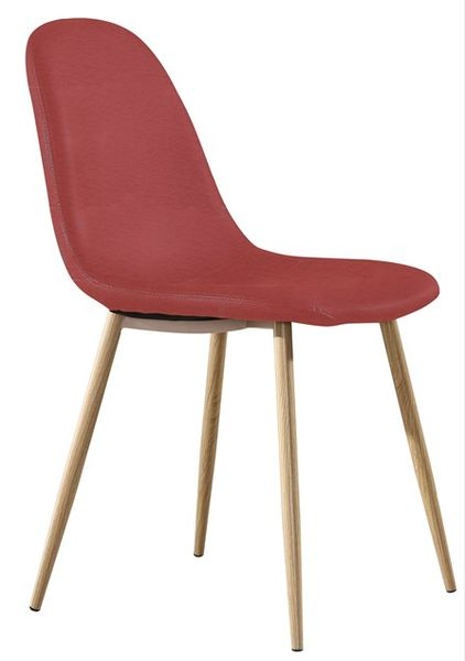 MF-8353 kárpitozott szék metál, bordó textilbőr