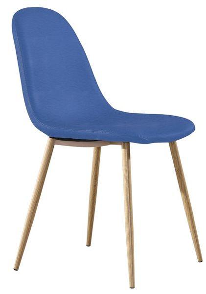 MF-8354 kárpitozott szék metál, kék textilbőr