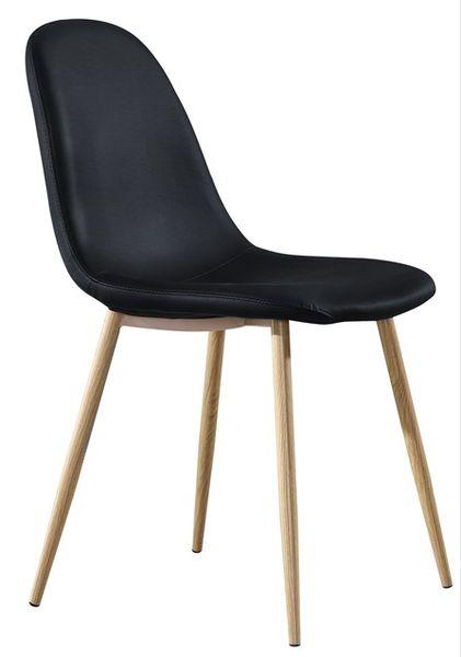 MF-8355 kárpitozott szék metál, fekete textilbőr