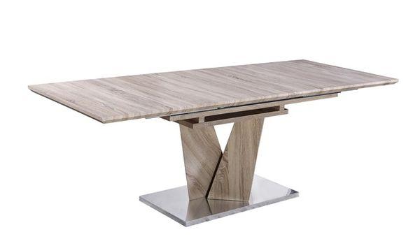 MF-6651 nagyobbítható tölgy asztal sonoma, MDF 90x160/220