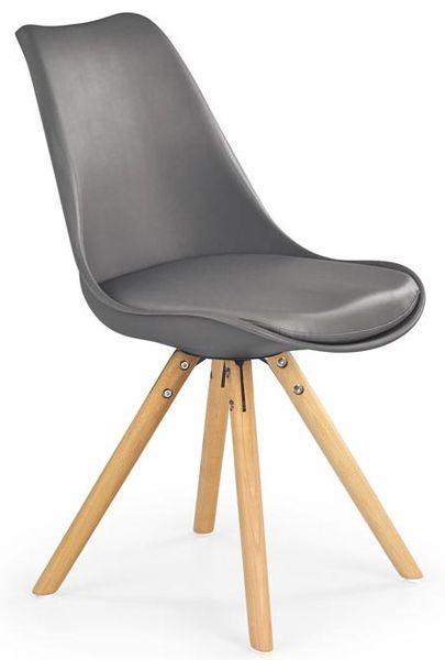 K-201 natúr bükkfa lábú, műanyag palástú kárpitozott szék