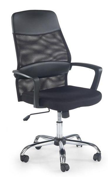 Carbon karfás irodai forgószék, textilbőr/mesh hálós, króm láb