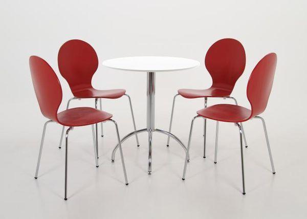 Shell (MF-2613) 4 db-os rakásolható lemezelt szék szett piros