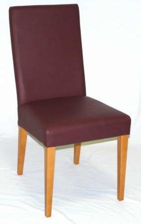 Fanny kárpitozott szék B/natúr Wildanilin burgundy