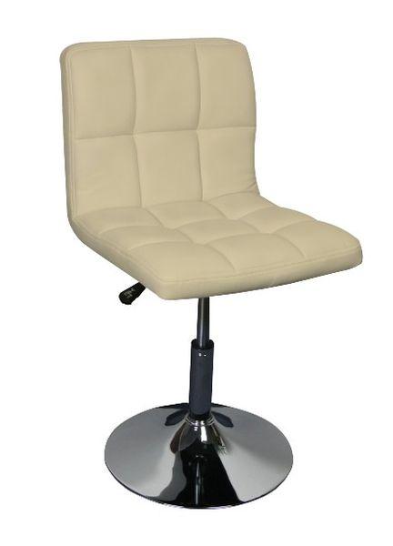 MF-8490 design szék, króm, beige textilbőr, gázliftes