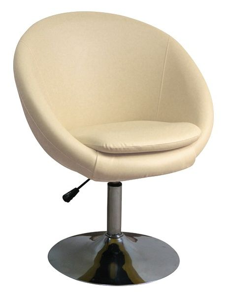 MF-3284 design fotel, króm, beige textilbőr, gázliftes