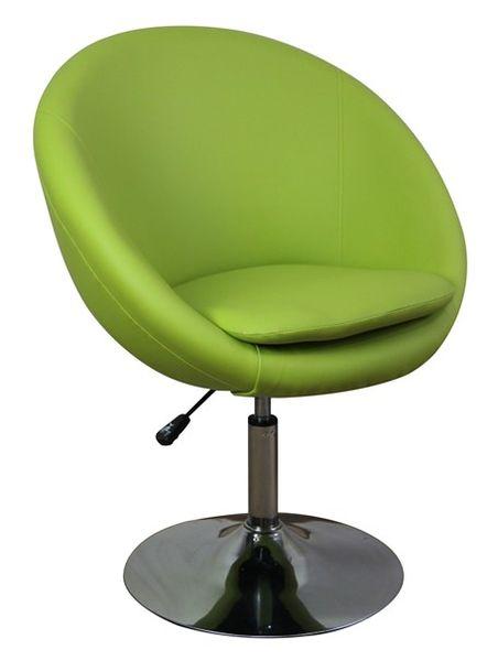 MF-6862 design fotel, króm, kiwi textilbőr, gázliftes