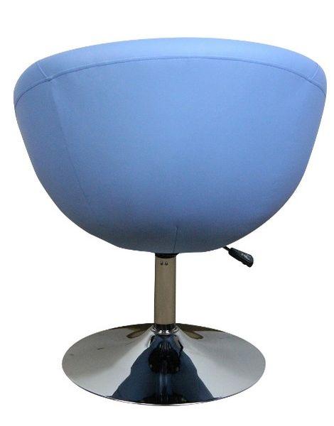 MF-7282 design fotel, króm, világos kék textilbőr, gázliftes
