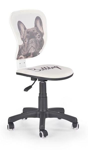 Flyer Bulldog gyerek forgószék fekete láb, fehér-fekete