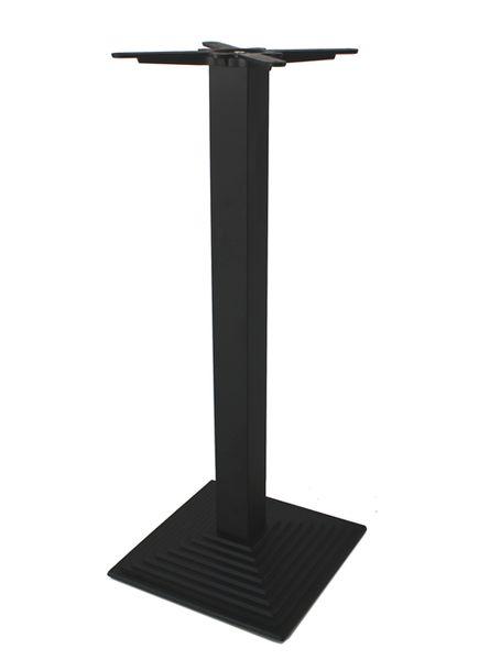 GF-2412 bárasztalláb fekete, négyzetes piramisos