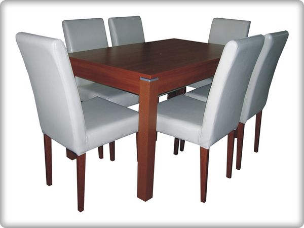 Orion - Ildikó éltkezőgarnitúra (1 asztal   6 szék)