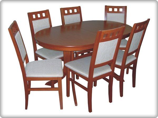 Myra - Melinda étkezőgarnitúra (1 asztal   6 szék)