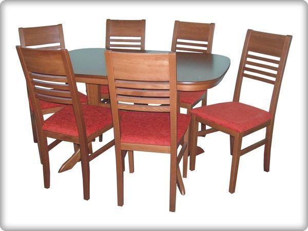 Héra - Mónika étkezőgarnitúra (1 asztal   6 szék)