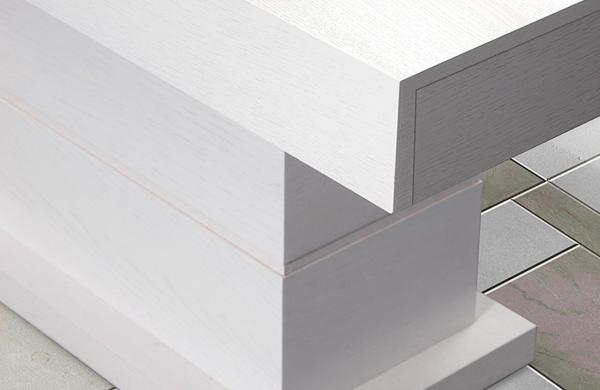 Bahus/M üveglapos asztal 90x160/200