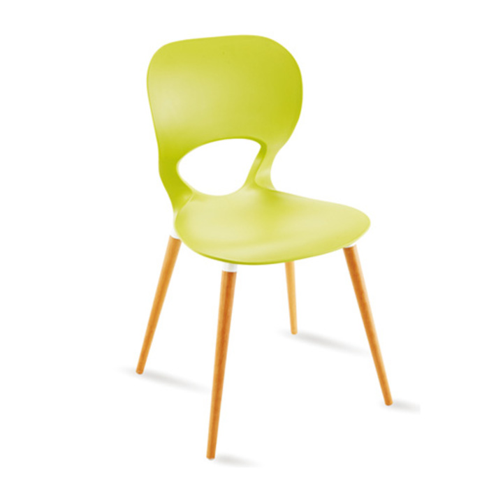 Ellie Wood szék,natúr fa láb,műanyag palást