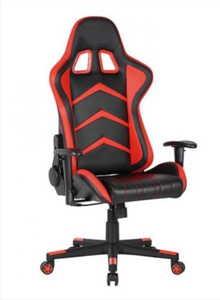 Gamer Indianapolis forgószék fekete-piros textilbőr, fekete láb