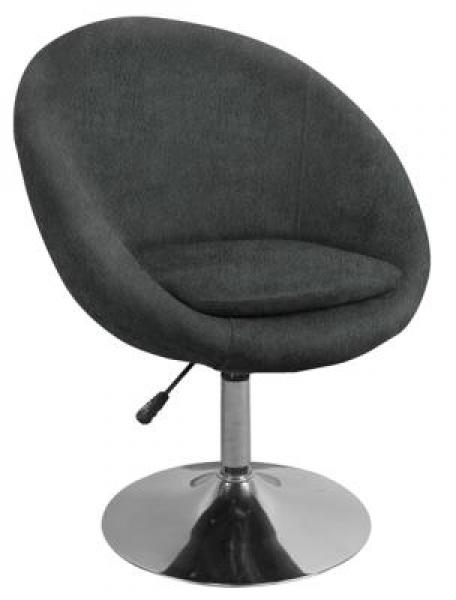 MF-0109 design fotel, króm, antrazit texbilbőr, gázliftes