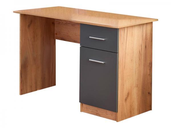 Elmo íróasztal 1 fiókk 1 ajó, tölgy-antracit szürke