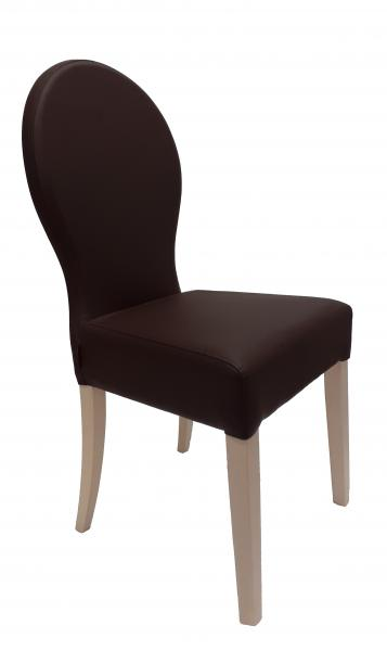 Florence kárpitozott szék, Cayenne mocca, Milk fehér