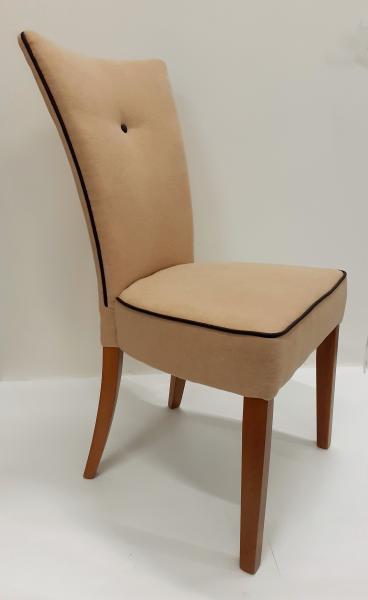 Adria kárpitozott szék, Jaguár 3.beige/Florida 7.barna textilbőr, 1291 vil.dió