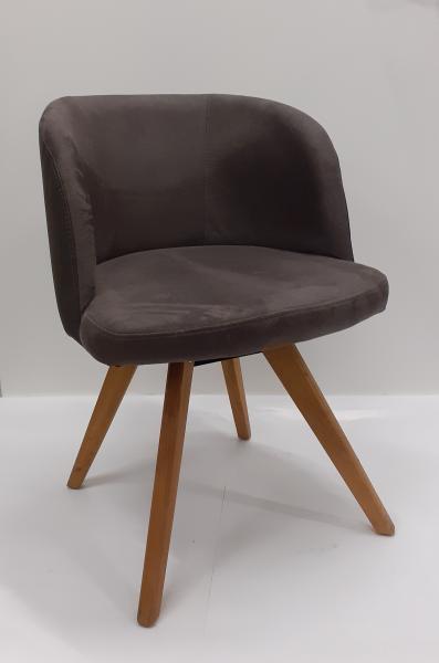 Voleo Tulsa A kárpitozott szék, Duncan 7110 szürke,EH tölgy natúr olajozott