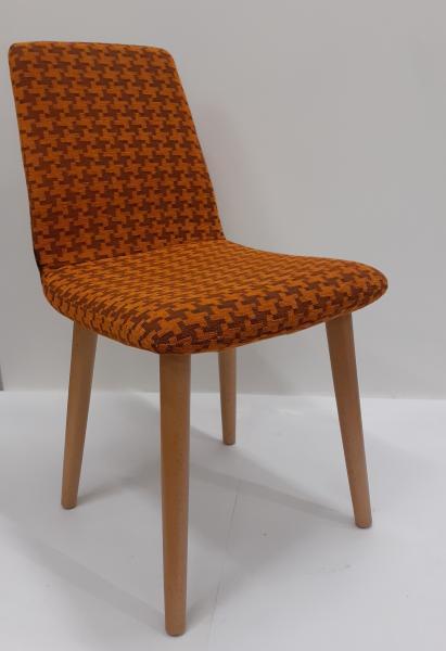 Tokyo kárpitozott szék, Pepit orange, FAG natúr