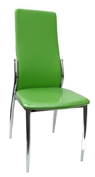 F68 (KD) fémvázas kárpitozott szék, zöld,cróm