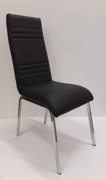 Dora fémvázas kárpitozott szék,fekete,cróm