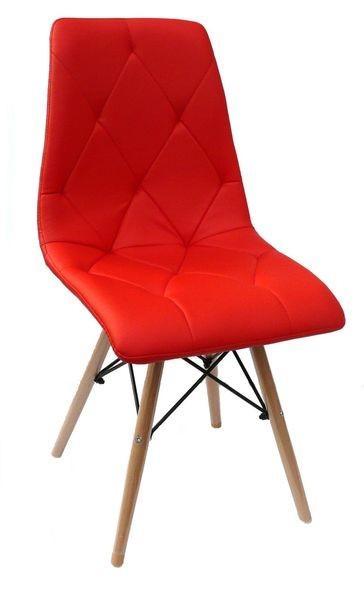 PP624 kárpitozott szék,piros textibőr,natúr