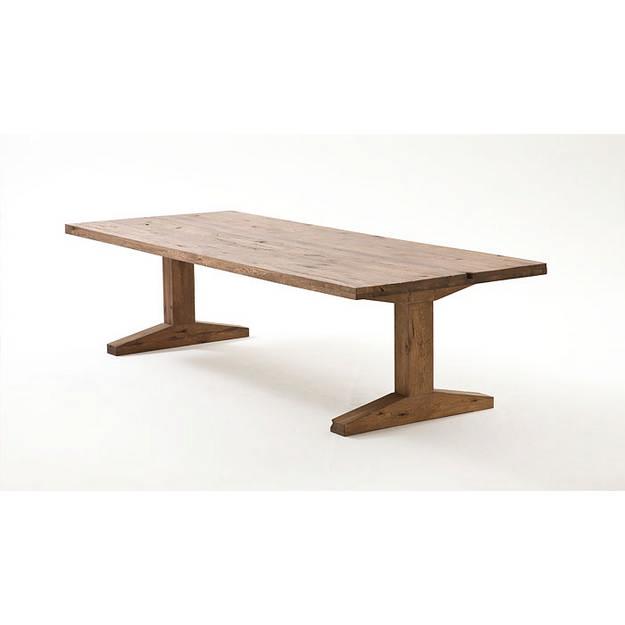 Lunch tömör tölgyfa asztal
