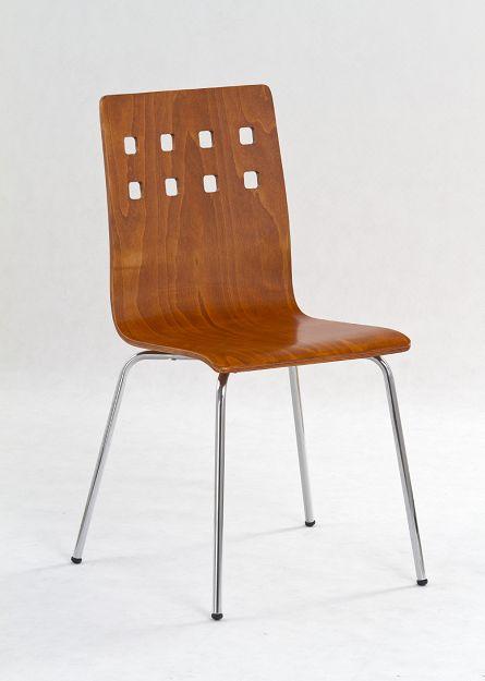K-82 fémvázas szék, antik cseresznye lemezelt